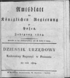Amtsblatt der Königlichen Regierung zu Posen. 1824.01.06 Nro.1