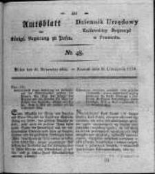 Amtsblatt der Königlichen Regierung zu Posen. 1824.11.30 Nro.48