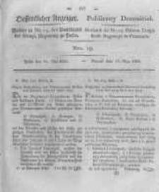 Oeffentlicher Anzeiger. 1825.05.10 Nro.19