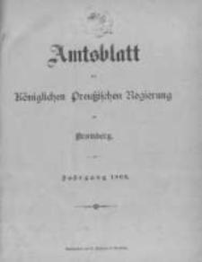 Amtsblatt der Königlichen Preussischen Regierung zu Bromberg. 1903.01.02 No.1