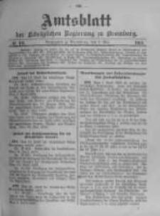 Amtsblatt der Königlichen Preussischen Regierung zu Bromberg. 1903.05.07 No.19