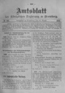 Amtsblatt der Königlichen Preussischen Regierung zu Bromberg. 1903.08.13 No.33