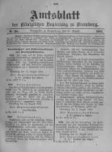 Amtsblatt der Königlichen Preussischen Regierung zu Bromberg. 1903.08.20 No.34