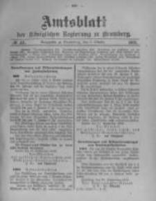 Amtsblatt der Königlichen Preussischen Regierung zu Bromberg. 1903.10.08 No.41