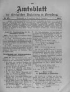 Amtsblatt der Königlichen Preussischen Regierung zu Bromberg. 1903.11.05 No.45