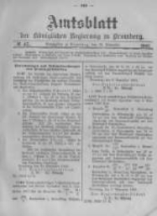 Amtsblatt der Königlichen Preussischen Regierung zu Bromberg. 1903.11.19 No.47