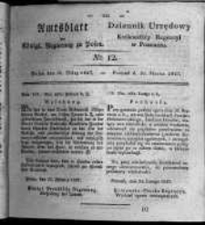 Amtsblatt der Königlichen Regierung zu Posen. 1827.03.20 Nro.12