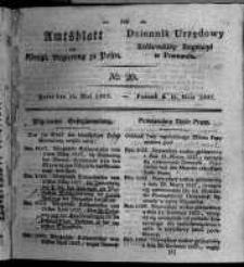 Amtsblatt der Königlichen Regierung zu Posen. 1827.05.15 Nro.20