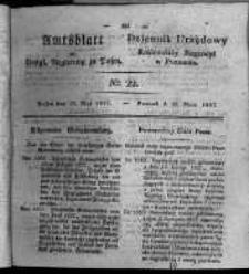 Amtsblatt der Königlichen Regierung zu Posen. 1827.05.29 Nro.22