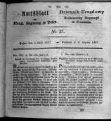 Amtsblatt der Königlichen Regierung zu Posen. 1827.07.03 Nro.27