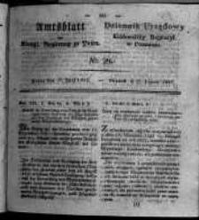 Amtsblatt der Königlichen Regierung zu Posen. 1827.07.17 Nro.29