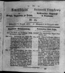 Amtsblatt der Königlichen Regierung zu Posen. 1827.08.14 Nro.33