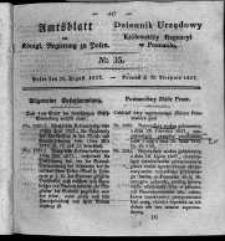 Amtsblatt der Königlichen Regierung zu Posen. 1827.08.28 Nro.35
