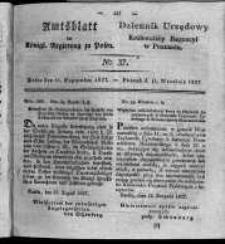 Amtsblatt der Königlichen Regierung zu Posen. 1827.09.11 Nro.37