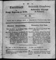 Amtsblatt der Königlichen Regierung zu Posen. 1827.10.02 Nro.40