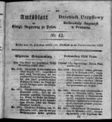 Amtsblatt der Königlichen Regierung zu Posen. 1827.10.16 Nro.42