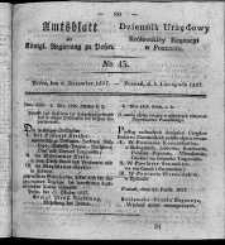 Amtsblatt der Königlichen Regierung zu Posen. 1827.11.06 Nro.45