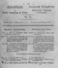 Amtsblatt der Königlichen Regierung zu Posen. 1830.03.16 Nro.11