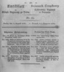Amtsblatt der Königlichen Regierung zu Posen. 1830.08.03 Nro.31