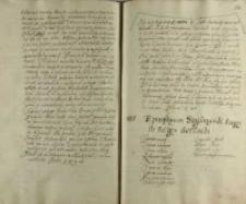 [Uchwała sejmiku łęczyckiego wysłania posłów na zjazd do Lublina na dzień 4 czerwca 1606]