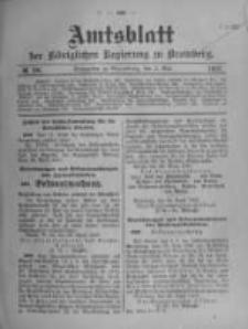 Amtsblatt der Königlichen Preussischen Regierung zu Bromberg. 1907.05.02 No.18