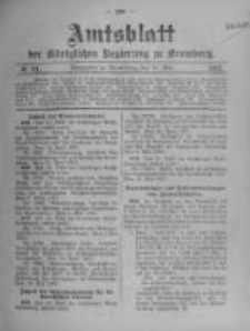 Amtsblatt der Königlichen Preussischen Regierung zu Bromberg. 1907.05.23 No.21