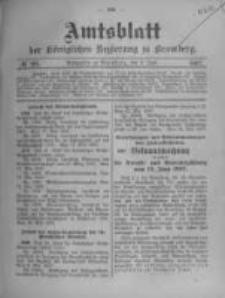 Amtsblatt der Königlichen Preussischen Regierung zu Bromberg. 1907.06.06 No.23