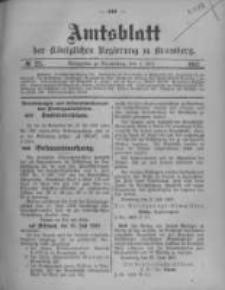 Amtsblatt der Königlichen Preussischen Regierung zu Bromberg. 1907.07.04 No.27
