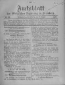 Amtsblatt der Königlichen Preussischen Regierung zu Bromberg. 1907.08.29 No.35