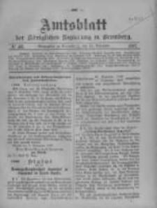 Amtsblatt der Königlichen Preussischen Regierung zu Bromberg. 1907.11.14 No.46