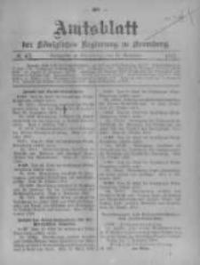 Amtsblatt der Königlichen Preussischen Regierung zu Bromberg. 1907.11.21 No.47
