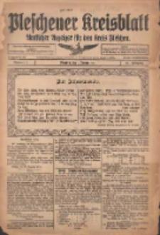 Pleschener Kreisblatt: Amtlicher Anzeiger für den Kreis Pleschen 1916.01.01 Jg.64 Nr1