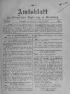 Amtsblatt der Königlichen Preussischen Regierung zu Bromberg. 1908.04.30 No.18