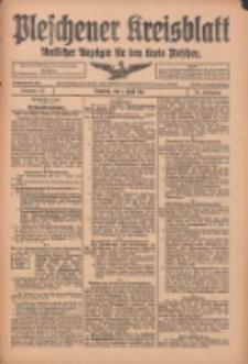 Pleschener Kreisblatt: Amtlicher Anzeiger für den Kreis Pleschen 1916.04.01 Jg.64 Nr27