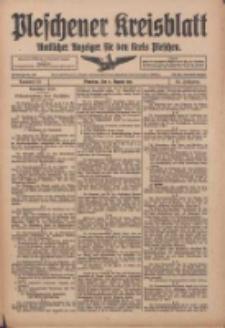 Pleschener Kreisblatt: Amtlicher Anzeiger für den Kreis Pleschen 1916.08.02 Jg.64 Nr62
