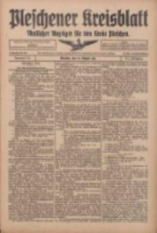 Pleschener Kreisblatt: Amtlicher Anzeiger für den Kreis Pleschen 1916.08.26 Jg.64 Nr69