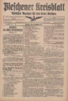 Pleschener Kreisblatt: Amtlicher Anzeiger für den Kreis Pleschen 1916.09.13 Jg.64 Nr74