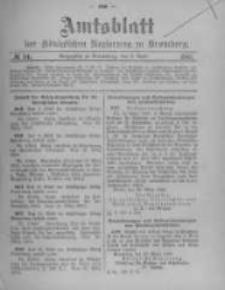 Amtsblatt der Königlichen Preussischen Regierung zu Bromberg. 1905.04.06 No.14