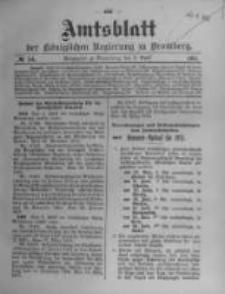 Amtsblatt der Königlichen Preussischen Regierung zu Bromberg. 1911.04.06 No.14
