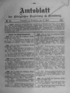 Amtsblatt der Königlichen Preussischen Regierung zu Bromberg. 1911.04.27 No.17