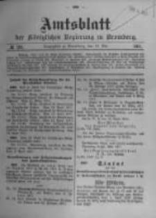Amtsblatt der Königlichen Preussischen Regierung zu Bromberg. 1911.05.18 No.20