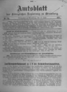 Amtsblatt der Königlichen Preussischen Regierung zu Bromberg. 1911.06.15 No.24