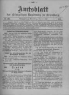 Amtsblatt der Königlichen Preussischen Regierung zu Bromberg. 1911.07.13 No.28