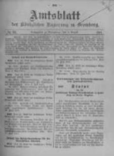 Amtsblatt der Königlichen Preussischen Regierung zu Bromberg. 1911.08.03 No.31