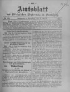 Amtsblatt der Königlichen Preussischen Regierung zu Bromberg. 1911.08.31 No.35
