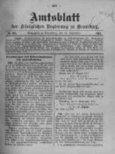Amtsblatt der Königlichen Preussischen Regierung zu Bromberg. 1911.09.14 No.37