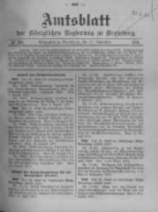 Amtsblatt der Königlichen Preussischen Regierung zu Bromberg. 1911.09.21 No.38