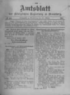 Amtsblatt der Königlichen Preussischen Regierung zu Bromberg. 1911.10.19 No.42