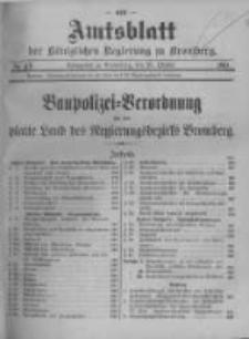 Amtsblatt der Königlichen Preussischen Regierung zu Bromberg. 1911.10.20 No.43