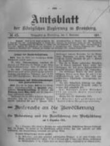 Amtsblatt der Königlichen Preussischen Regierung zu Bromberg. 1911.11.02 No.45